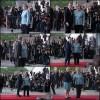 Angela Merkel mentre riceve i leader europei - foto: Emilio Esbardo